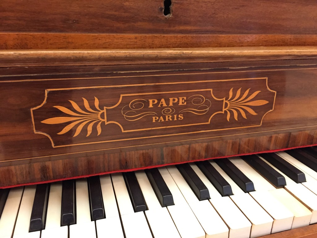 Piano restoration done by Irwin's Furniture